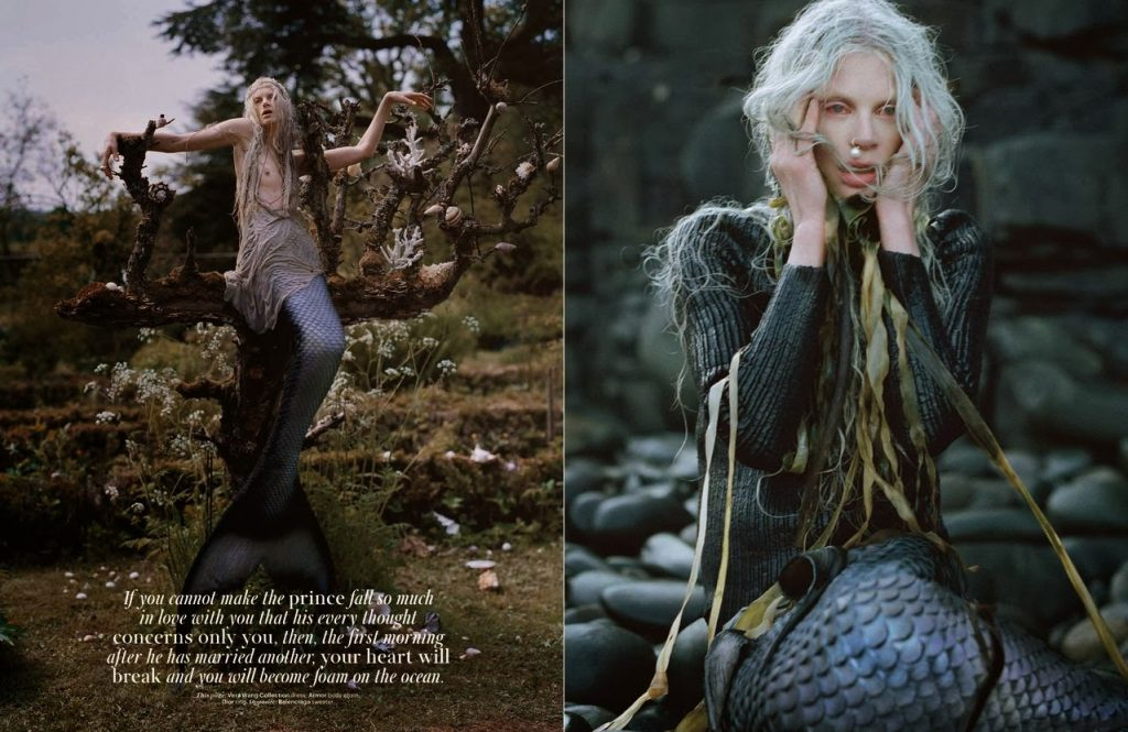 Tim Walker chụp Kristen McMenamy cho W Magazine, Tháng 12, 2013.