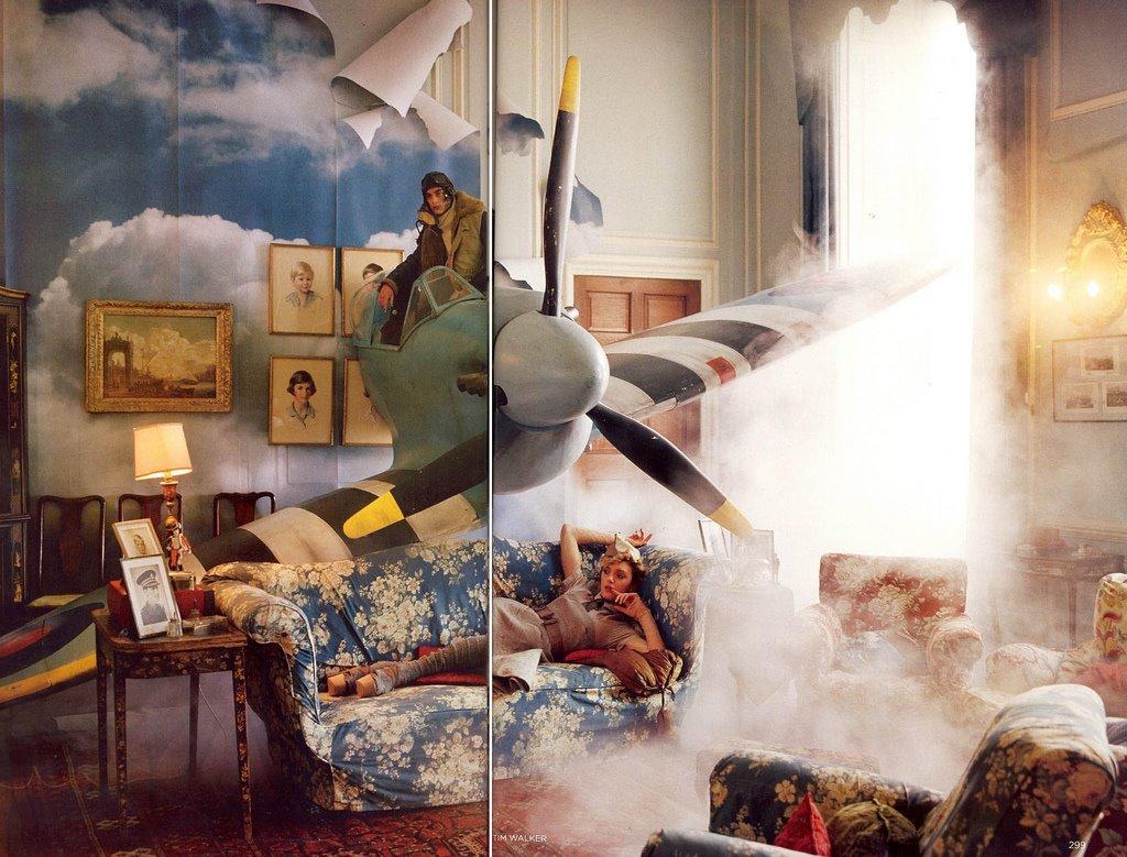Bộ ảnh Spitfire cùng LILY DONALDSON cho British Vogue 2009.