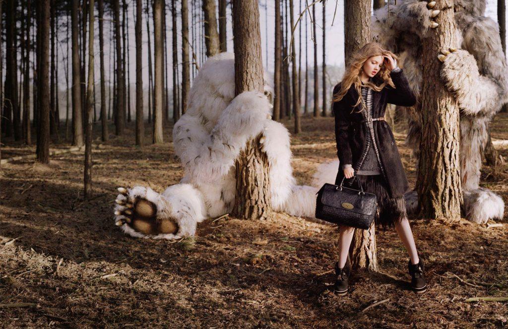 Chụp Lindsey Wixson cho chiến dịch quảng cáo thu đông 2012 của Mulberry.