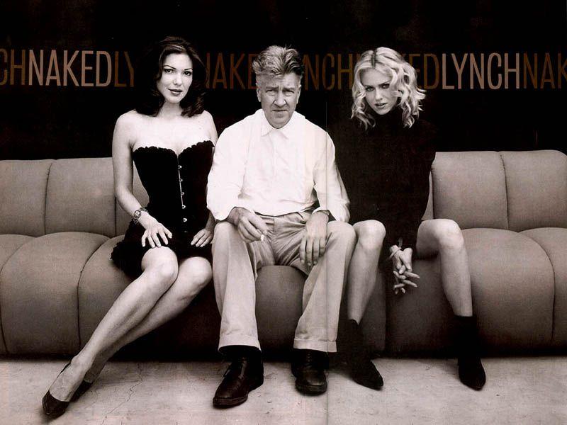 Đạo diễn David Lynch và hai nữ chính Laura Harring và Naomi Watts.