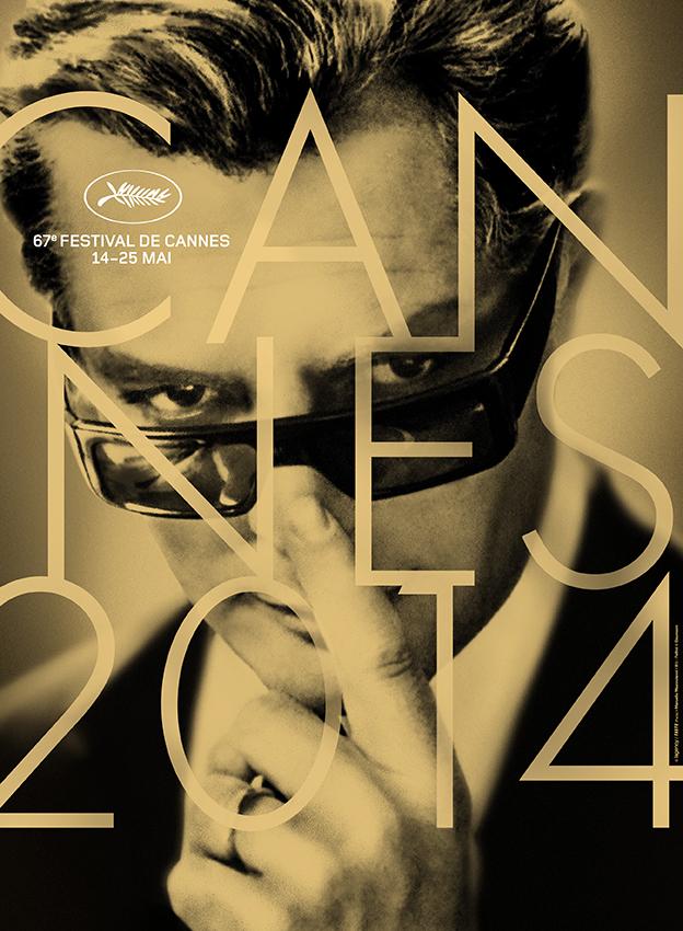 Poster chính thức của Liên hoan phim Cannes 2014. Ảnh là Marcello Mastroianni thủ vai Guido Anselmi trong tuyệt phẩm 8½ (1963) của đạo diễn Federico Fellini.