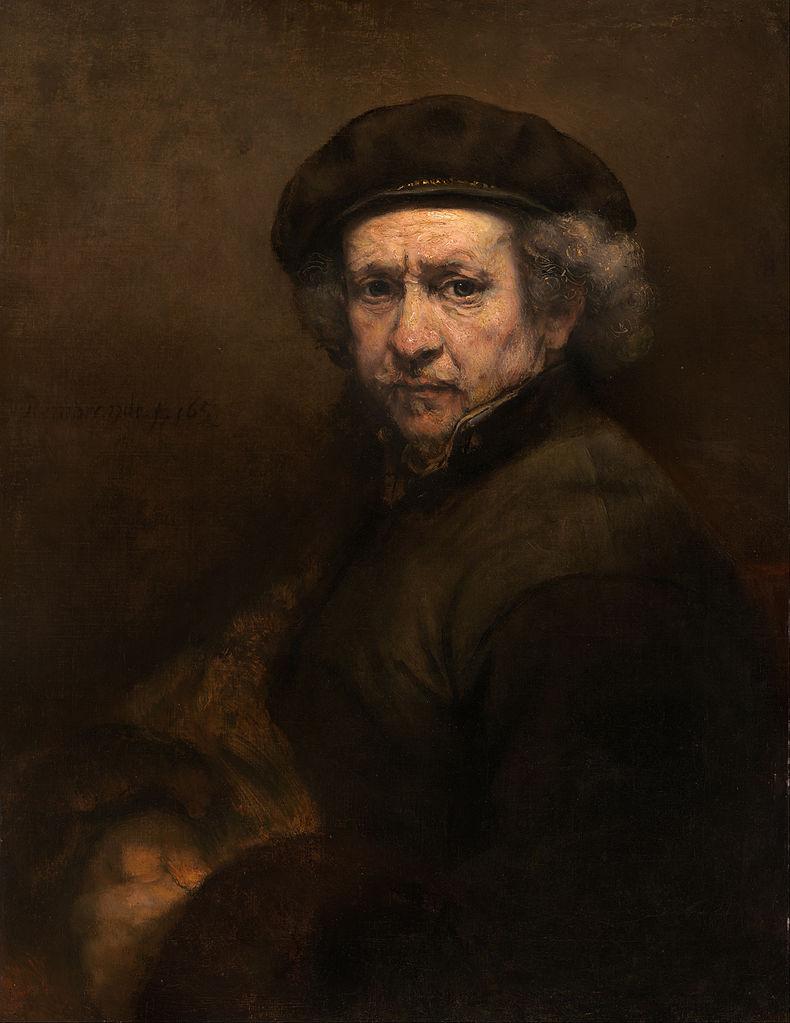 Tranh tự họa của Rembrandt (1659, sơn dầu, 84 x 66 cm)