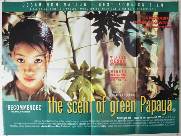 """""""Mùi đu đủ xanh"""" của đạo diễn Trần Anh Hùng có âm nhạc và quay phim tuyệt đẹp."""