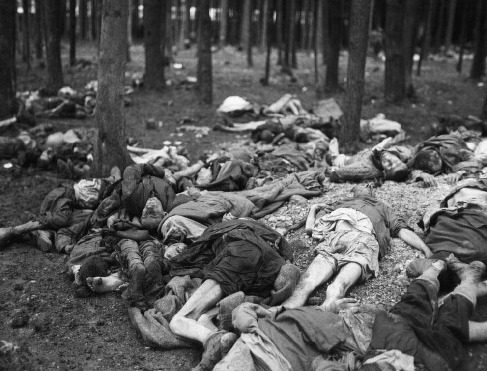 Trại tập trung Lambach ở Áo (6.5.1945). Ở đây giam giữ khoảng 18.000 tù nhân, mỗi khu nhà chứa khoảng 1600 người. Trung bình một ngày có từ 40 đến 50 nghìn người chết.