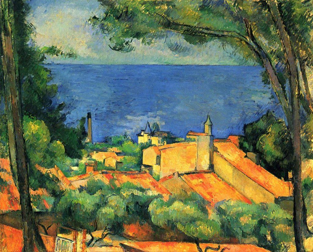 """Bức """"L'Estaque"""" (sơn dầu, 1883-1885, 65x81cm) của Paul Cézanne."""