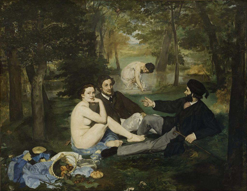 """""""Luncheon on the Grass"""" của Édouard Manet (sơn dầu, 1863)"""