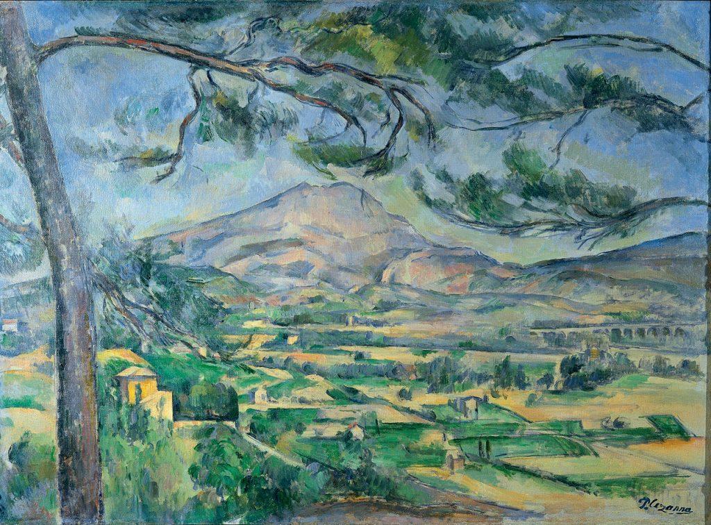 """Bức """"Mont Sainte-Victoire"""" (sơn dầu, 67x92cm, 1887) của Paul Cézanne."""