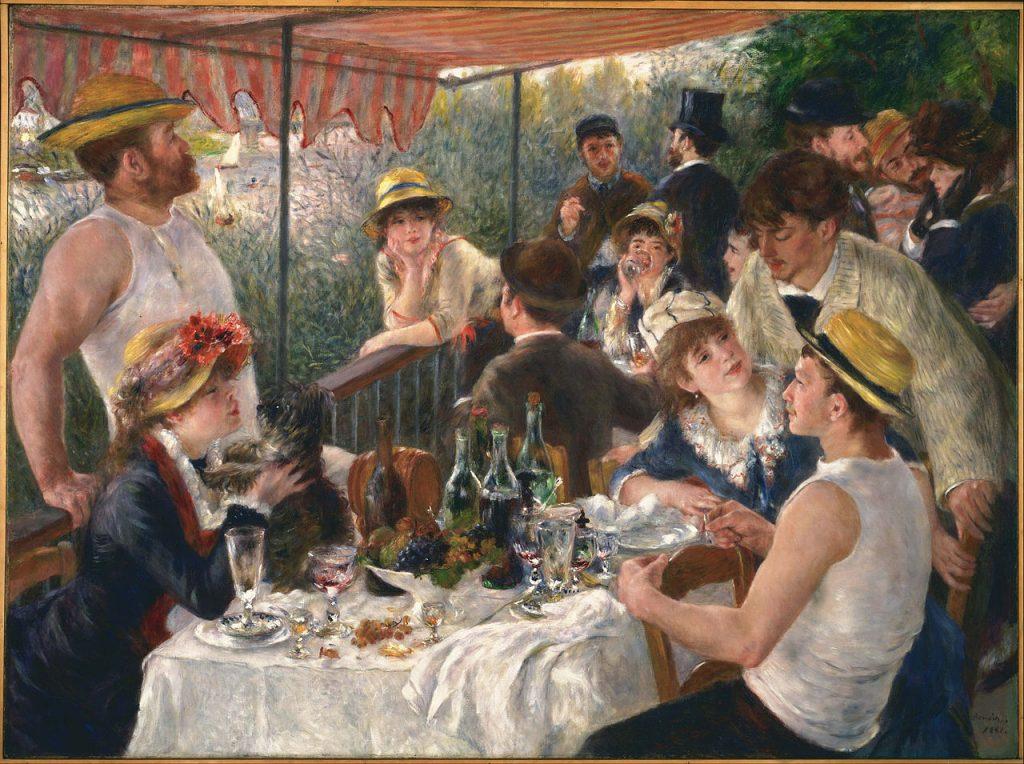 """""""Luncheon of the Boating Party"""" được Renoir vẽ năm 1881 (sơn dầu, 130x173cm)."""