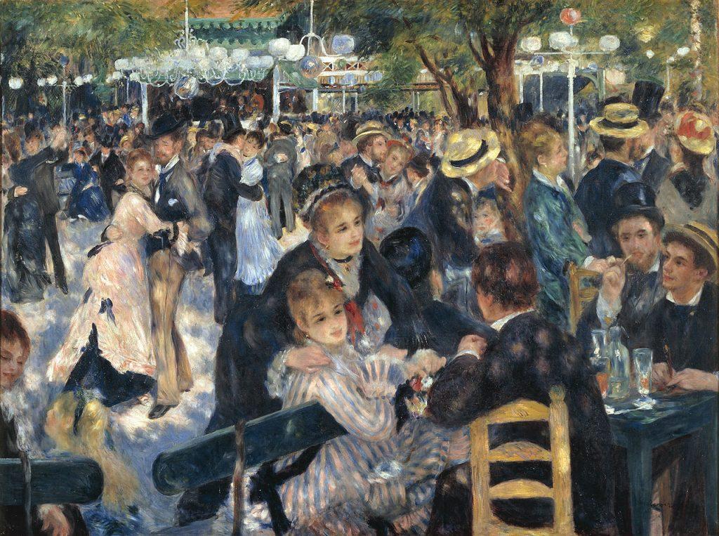 """Renoir vẽ """"Dance at Le moulin de la Galette"""" năm 1876 (sơn dầu, 131x175cm)"""