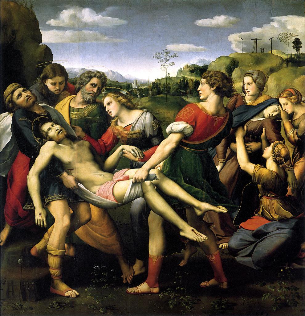 Bức The Deposition (1507, sơn dầu trên gỗ, 184x176 cm) của Raphel.