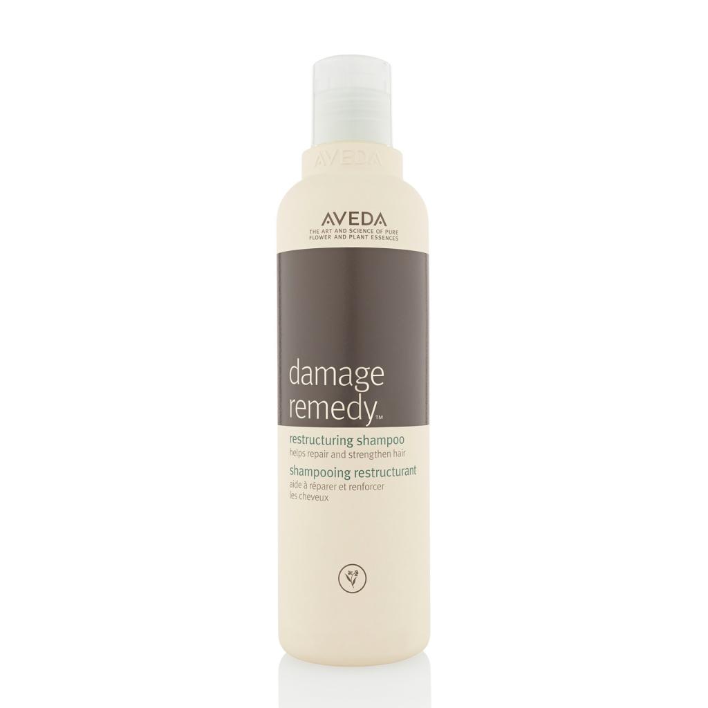 Dầu gội Aveda Damage Remedy Restructuring dành cho những mái tóc đã bị hư hỏng quá nặng do nhuộm, tẩy, sấy tóc sai cách trong một thời gian dài. Giá 23$ cho một chai 250ml.