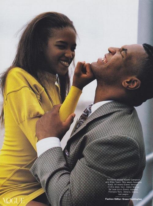 Có lẽ mối tình dang dở với Siêu mẫu Naomi Campbell là điều hạnh phúc nhất trong cuộc đời của Mike Tyson.