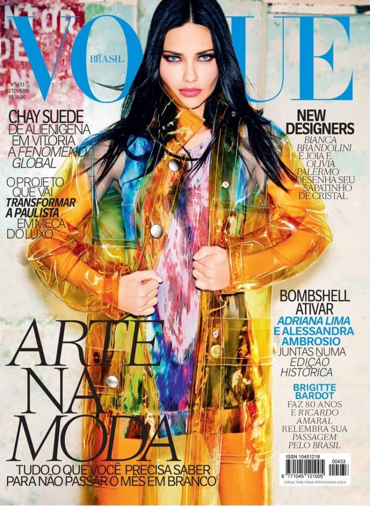 Adriana Lima xuất hiện trên bìa Vogue năm nay khá đều đặn. Đầu tiên là tháng Năm với Koray Birand trên Vogue Thổ Nhĩ Kỳ, tháng Sáu với Steven Meisel trên Vogue Italia và giờ là Vogue Brazil tháng Chín với nữ nhiếp ảnh gia người Đức Ellen Von Unwerth.