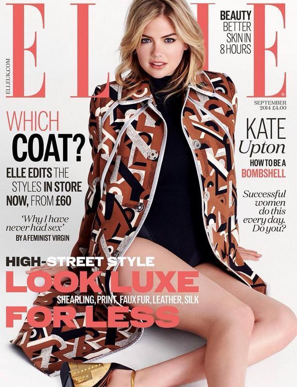 Anna Wintour mang lại một cuộc cách mạng cho các tạp chí thời trang khi mang các ngôi sao/người nổi tiếng lên trang bìa và từ đó đến nay nó đã trở thành một điều quen thuộc. Nhưng số báo tháng Chín lần này của các tạp chí lớn đồng loại trả lại vị trí trang trọng ấy cho các người mẫu - điều mà tôi rất thích. Khách mời của Elle UK lần này là Kate Upton - một trong những cái tên được google nhiều nhất tuần qua bên cạnh Jennifer Lawrence vì vụ lùm xùm ảnh nóng bị tung lên mạng.