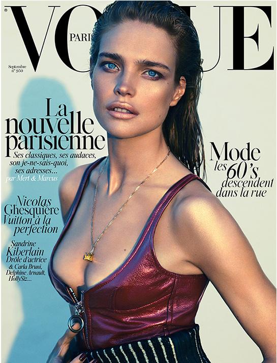 Một lần nữa là Natalia Vodianova, nhưng lần này không phải Vanity Fair mà là Vogue Paris. Số Tháng Chín 2014 cũng là số báo thứ 950 của Vogue Paris. Nhiếp ảnh gia: Mert & Marcus. Đây là bộ sưu tập đầu tiên của Nicolas Ghesquière cho Louis Vuitton kể từ khi anh ta thay Marc Jacobs giữ chức Giám đốc nghệ thuật phân khu đồ nữ của LV.