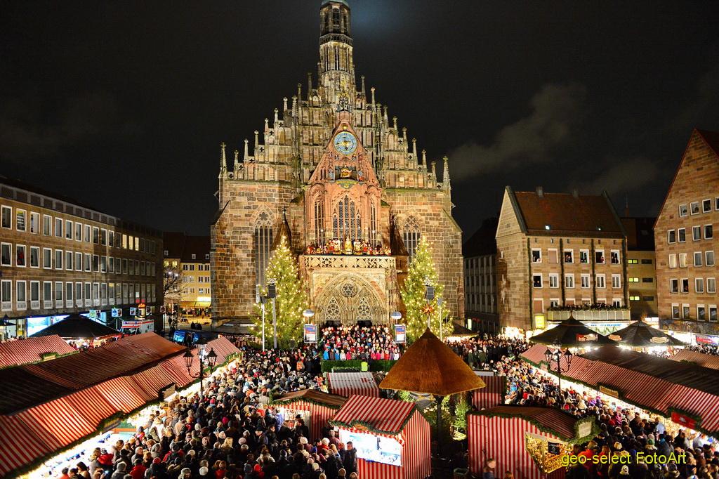 Chợ Giáng sinh ở Nürnberg.