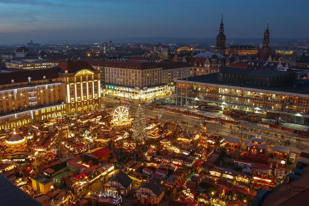Chợ Giáng sinh ở Dresden.