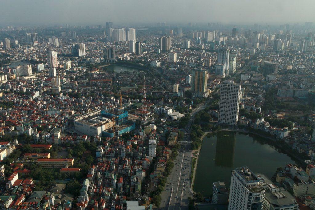Hà Nội nhìn từ tầng 65 Lotte Center, 2014.