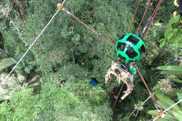 Hay là cáp treo ở rừng Amazon!