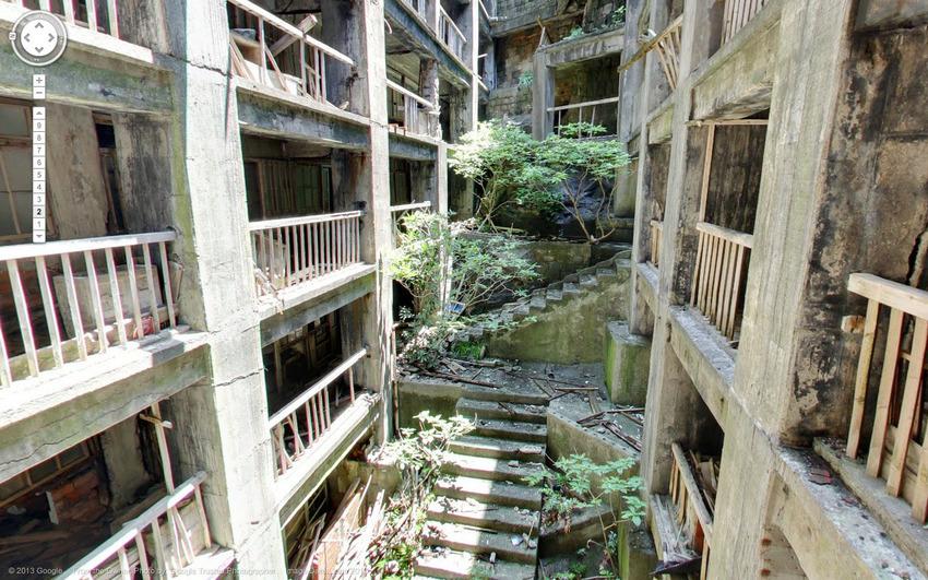 Hòn đảo hoang Hashima ở Nhật, cách đây mấy chục năm đây là nơi khai thác than.