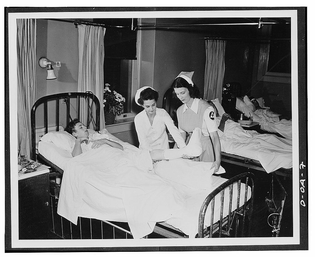 Biggest and most immediately useful role for women in the civilian defense program is that of nurse's aide. Training of 100,000 volunteers as nurse's aides is designed by the American Red Cross
