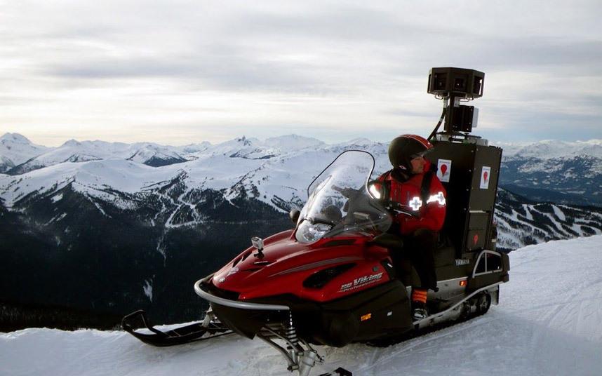 Xe trượt tuyết Google Street View phục vụ cho mùa đông vốn nhiều tuyết ở các nước hàn đới.