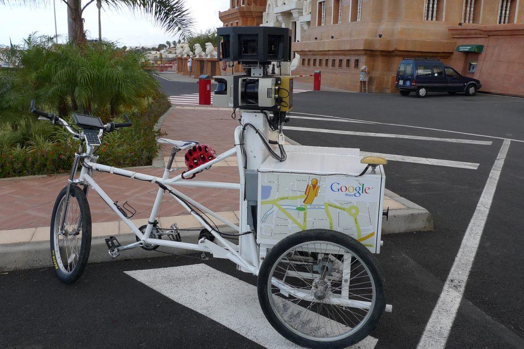 Xe đạp Google Stret View ba bánh ở London, 2010.