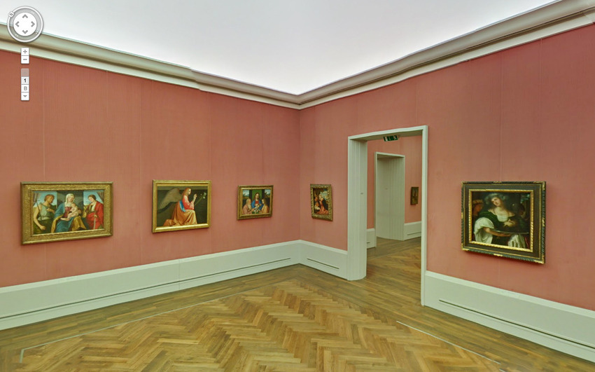 Một phòng triển lãm tranh ở Berlin.