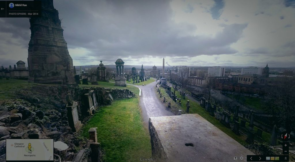 Nghĩa địa Glasgow Necropolis, Scotland.