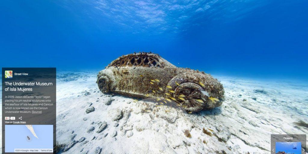 Bảo tàng dưới nước, Isla Mujeres, Mexico.