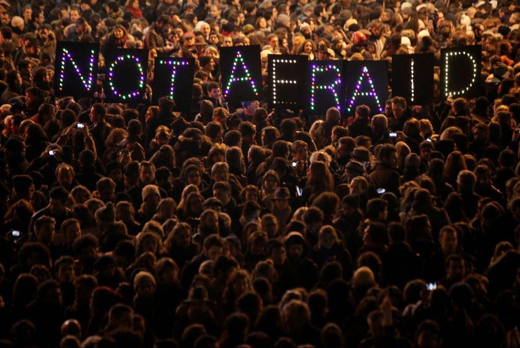 Tuần hành ủng hộ Charlie Hebdo.