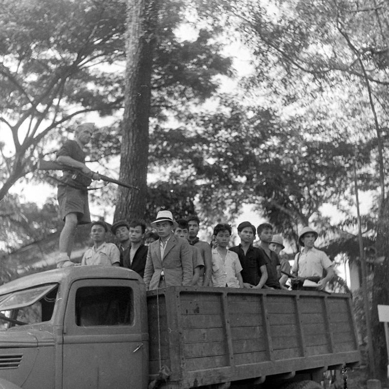 SAIGON Oct 1945 - Photo by John Florea Vietnamese nationalists in Saigon taken prisoner by the French - September 1945.