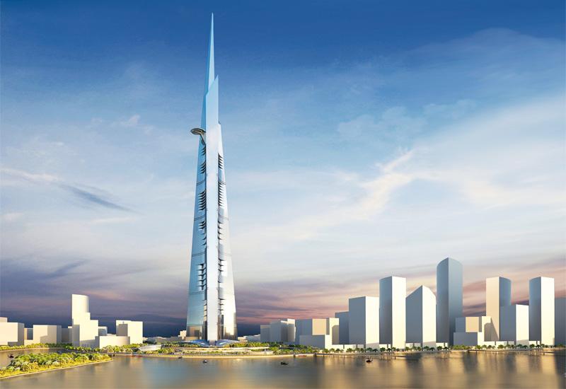 2019: Ảnh dựng trên máy tính của Kingdom Tower, tên gọi cũ là Tháp Một dặm, là công trình siêu cao tầng được cấp phép và bắt đầu xây dựng ở Jeddah, Ả Rập Saudi từ năm 2013. Đây là công trình trọng điểm trong dự án xây dựng thành phố Kingdom nằm bên bờ biển Đỏ với tổng mức đầu tư của toàn dự án lên tới 20 tỷ đô la. Tòa nhà này ban đầu được thiết kế cao 1,6 km (1 dặm), nhưng những khảo sát và thí nghiệm nền đất trong phạm vi xây dựng cho thấy nền đất ở đây không đủ khả năng chịu lực cho 1 công trình cao như vậy, nên chiều cao của công trình đã được giảm xuống thấp nhất là 1.000 mét. Mở cửa vào năm 2019.
