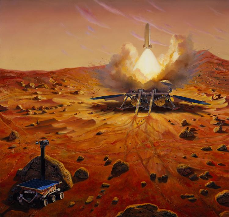 2023. Các mẫu thử của chuyến thám hiểm không người lái năm năm trước được gửi về Trái Đất, đánh dấu một cột mốc lớn tiếp theo: các chuyến thám hiểm có người lên sao Hỏa.