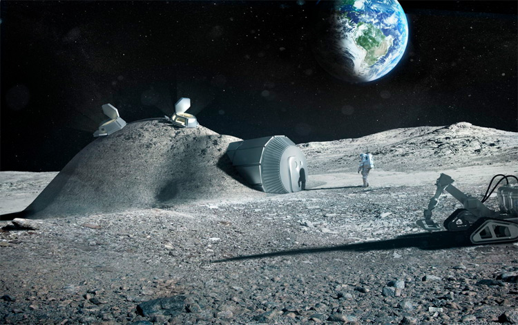 2035. Thành lập căn cứ có người ở đầu tiên trên Mặt trăng. Vào thời điểm này cũng đã có kha khá nước đưa người được lên Mặt trăng.