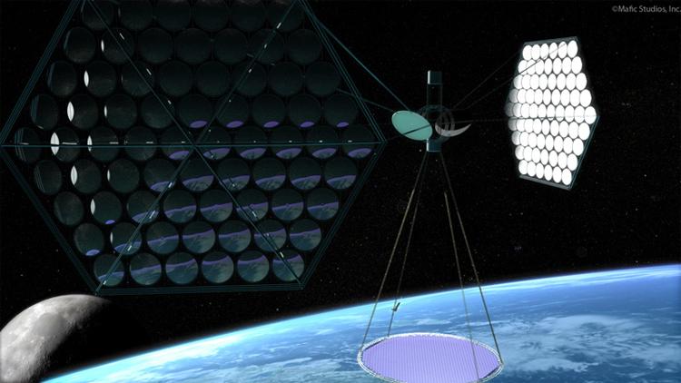 2041. Năng lượng mặt trời từ không gian bắt đầu được triển khai vì nhiều ưu điểm nó mang lại: hiệu suất cao hơn dưới mặt đất, thời gian hoạt động 24/7 (thay vì tối đa 12h một ngày như ở dưới mặt đất), không  chịu ảnh hưởng bởi các yếu tố thời tiết, truyền điện năng xuống mặt đất thông qua các vệ tinh. Tất nhiên đây mới là sự khởi đầu của một ngành công nghiệp rất phát triển vào cuối thế kỷ 21 đầu thế kỷ 22.