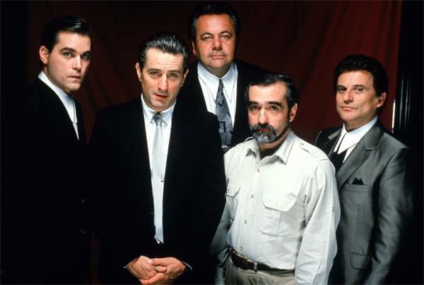 Đạo diễn Martin Scorsese cùng dàn diễn viên chính của Goodfellas.