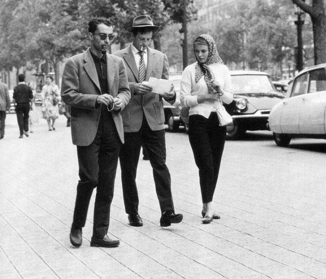Jean-Luc Godard, Jean-Paul Belmondo và Jean Seberg trong khi quay Breathless